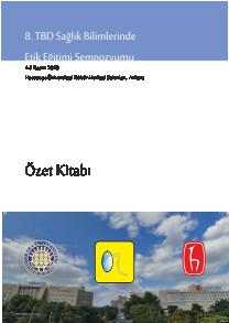 """""""Biyoetikten Sempozyum"""" Özet Kitabı"""